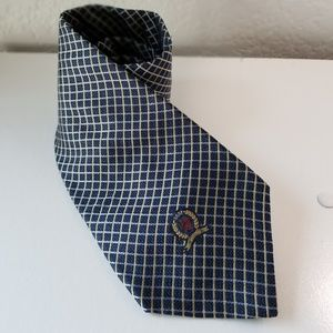 Tommy Hilfiger mens blue plaid tie